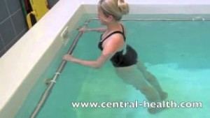 Lumbar Spine Stretch Hydrotherapy Exercises