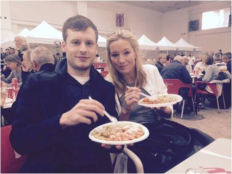 Central Health Physiotherapy's Abby McKenzie eating carbs before the Barcelona Marathon
