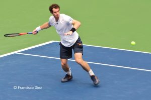 Andy Murray playing in the US Open
