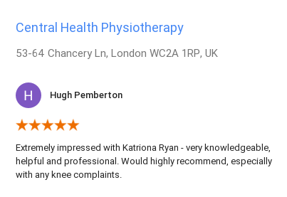 Customer by Hugh Pemberton for Katriona Ryan, Central Health Physiotherapy