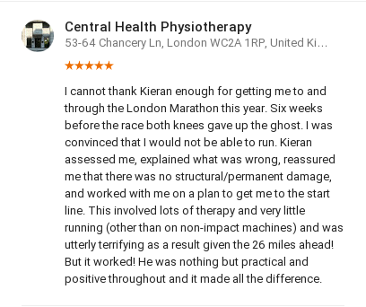 Customer review by Tiffany Kitching, Central Health Physiotherapy
