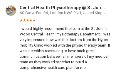 Customer review from Kea Bawtinheimer for the hypermobility unit, HJE
