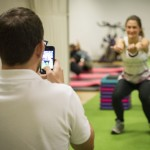 Somebody being video assessed during a lower limb strength and conditioning class