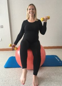 Victoria Howard, Central Health Physiotherapy, demonstrating exercises for during pregnancy
