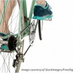 A close up of the groupset of a racing bike