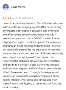 Patient review by David Morris