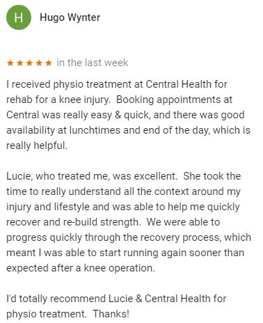 Patient review by Hugo Wynter for Lucie Bond