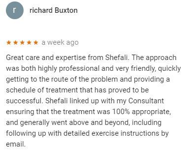 Patient review by Richard Buxton