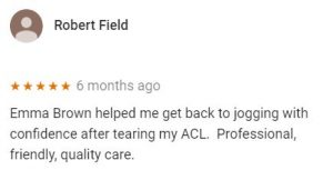 Patient review by Robert Field for Emma Brown, Central Health Physiotherapy