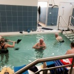 Chelsea Pensioners in a hydrotherapy exercise class