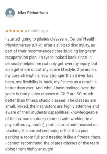 Review by Max Richardson for Pilates classes
