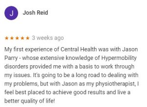 Review for Jason Parry, Central Health Physiotherapy