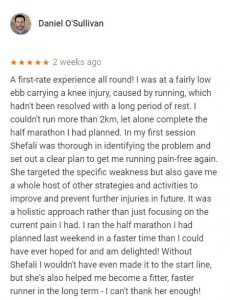 Review for Shefali Desai, Central Health Physiotherapy, by Daniel O'Sullivan