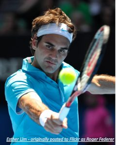 Roger Federer at the Australian Open