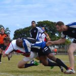 A rugby tackle