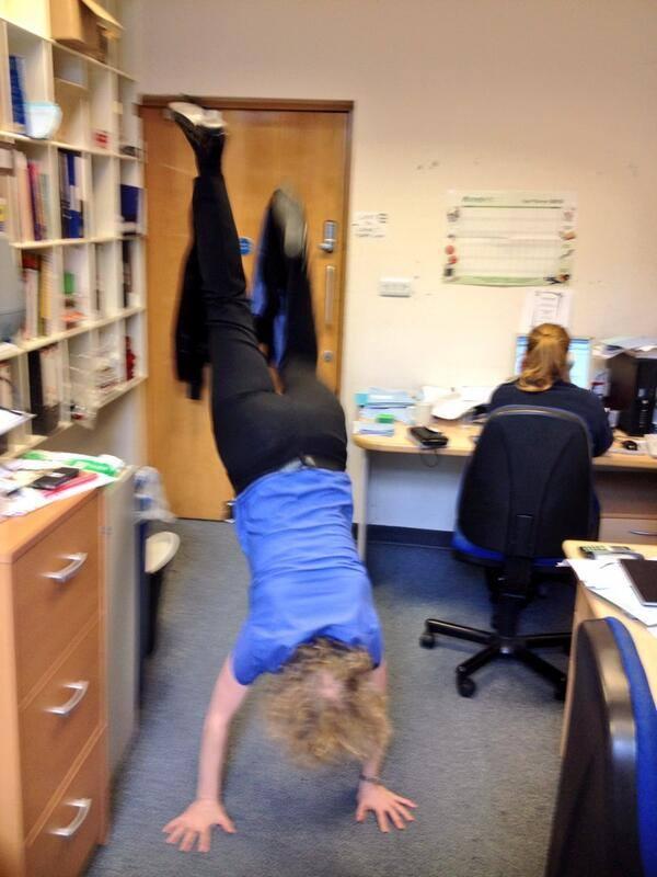 Tash doing a handstand