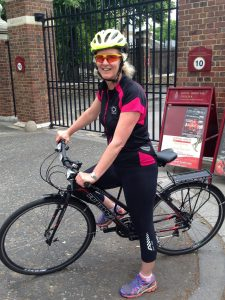 Central Health Physio MD Natasha Price on her bike as part of National Bike Week