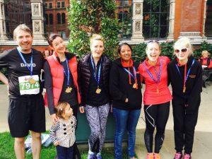 The Central Health Physiotherapy Royal Parks Half Marathon Team