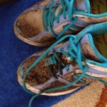 Vicky Frosdick muddy trainers