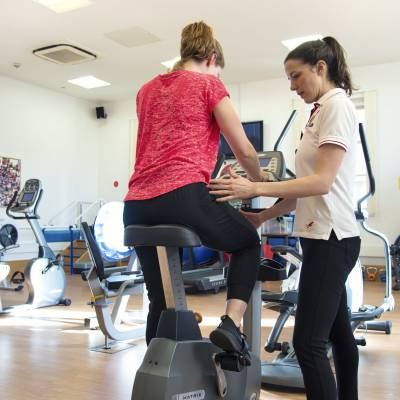 joint replacement rehab bike exercise