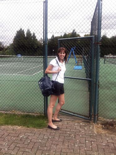 tennis tournament physio Gemma Newell